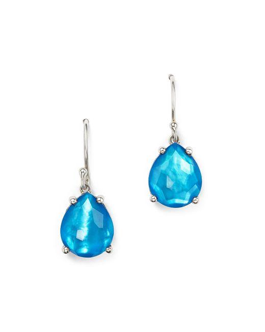 Ippolita | Blue Sterling Silver Wonderland Pear Drop Earrings In Ice | Lyst