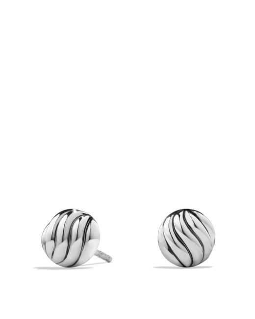 David Yurman   Metallic Sculpted Cable Earrings In Sterling Silver   Lyst