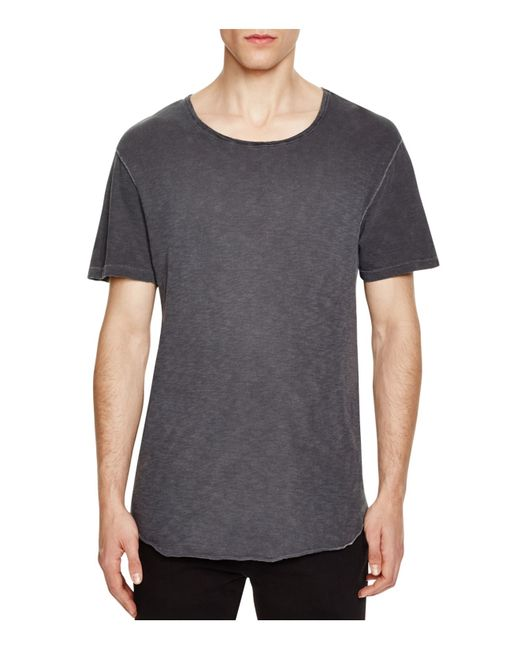 Alternative Apparel Deconstructed Crewneck Tee In Gray For