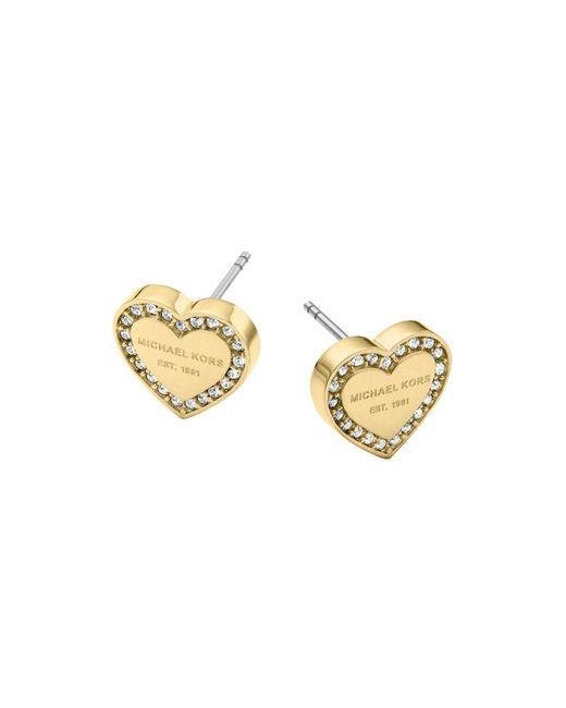 Michael Kors | Metallic Heart Stud Earrings | Lyst