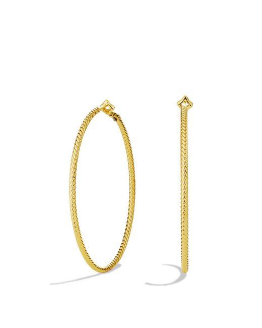 David Yurman | Yellow Cable Classics Hoop Earrings In 18k Gold | Lyst