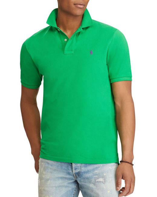Polo Ralph Lauren - Green Classic Fit Stretch Mesh Polo Shirt for Men - Lyst
