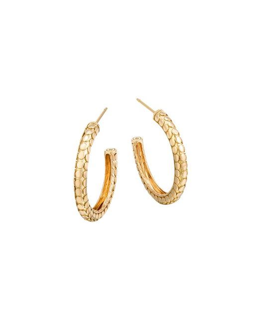 John Hardy | Metallic 18k Yellow Gold Dot Small Hoop Earrings | Lyst