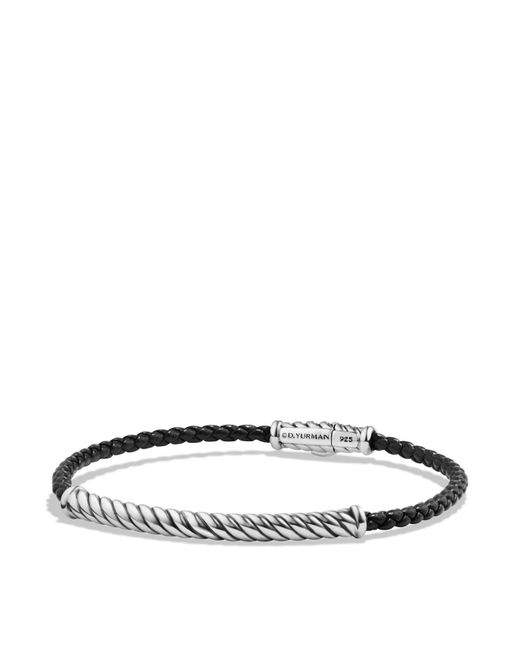 David Yurman | Cable Leather Bracelet In Black | Lyst