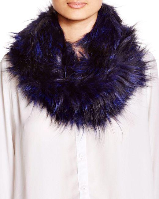 Adrienne Landau | Purple Fur Scarf | Lyst