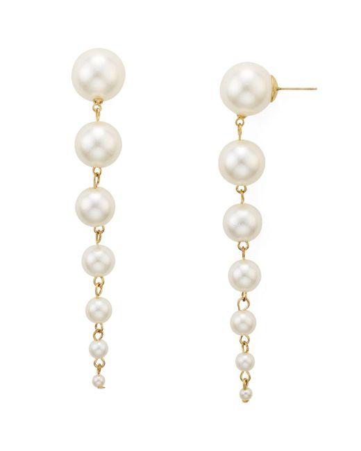 Aqua | Multicolor Renee Pearl Drop Earrings | Lyst