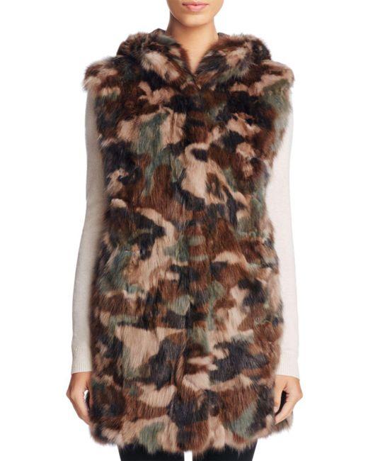 Maximilian - Brown Sable Fur Camo Vest - Lyst