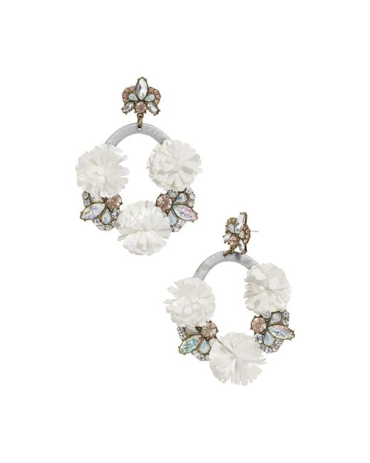 BaubleBar - Gray Ice Lily Loop Drop Earrings - Lyst