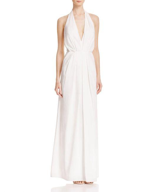 JILL Jill Stuart | White Deep V-neck Gown | Lyst