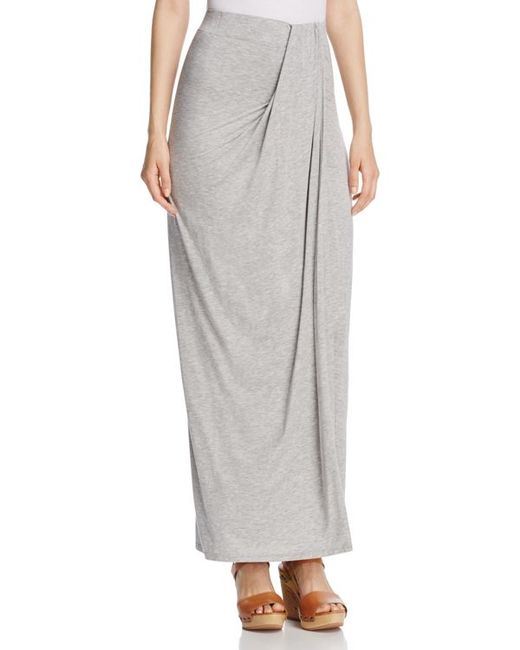 three dots sammy draped maxi skirt in beige gray save