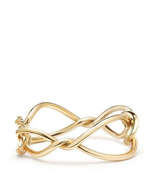 18kt yellow gold Continuance bold bangle - Metallic David Yurman lLDNND
