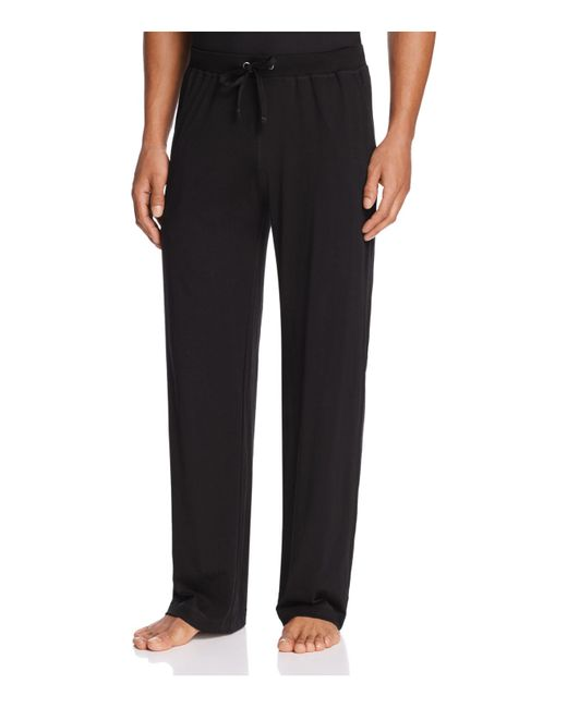 Daniel Buchler Peruvian Pima Cotton Lounge Pants In Black
