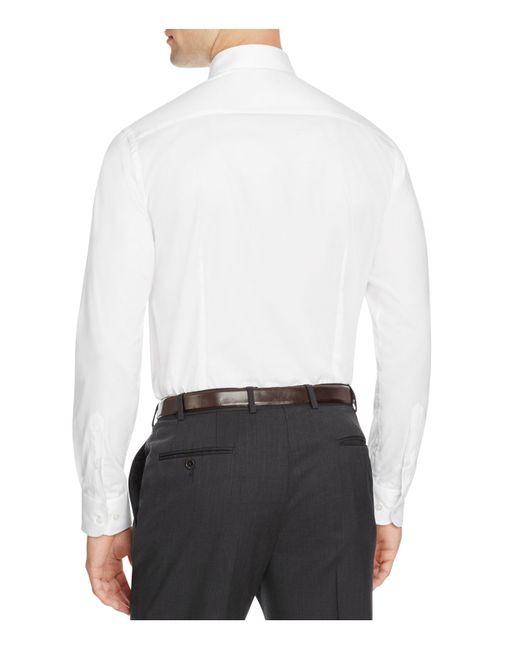 Armani Armani Slim Fit Button Down Shirt In White For Men