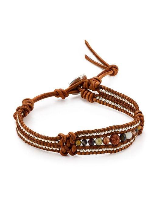 Chan Luu | Multicolor Turquoise, Sodalite, Amazonite & Leather Multi-row Beaded Wrap Bracelet | Lyst