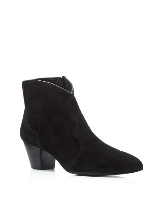 Ash | Black Gang Suede Pointed-toe Bootie | Lyst