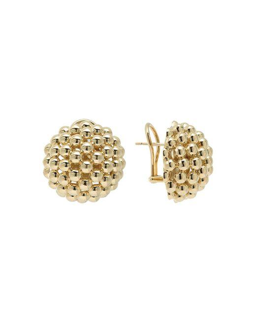 Lagos | Metallic 18k Gold Caviar Bold Button Stud Earrings | Lyst