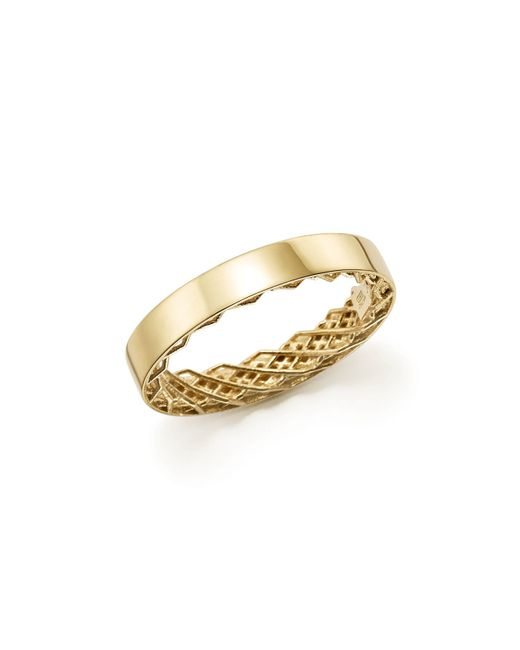 Roberto Coin | Metallic 18k Yellow Gold Symphony Golden Gate Ring | Lyst