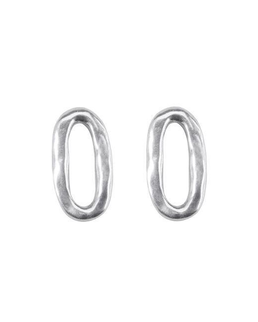 Uno De 50   Metallic Linked Stud Earrings   Lyst