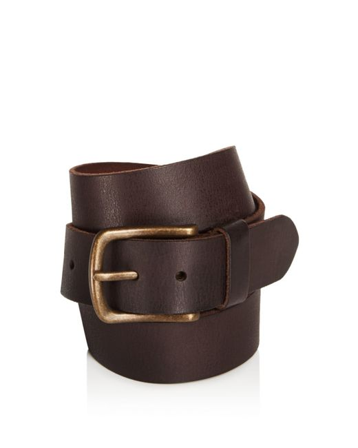 John Varvatos | Brown Leather Belt for Men | Lyst