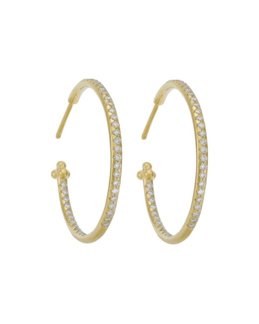 Temple St. Clair | Metallic Pave Hoop Earrings In 18k Yellow Gold, 1.57 Ct. T.w. | Lyst