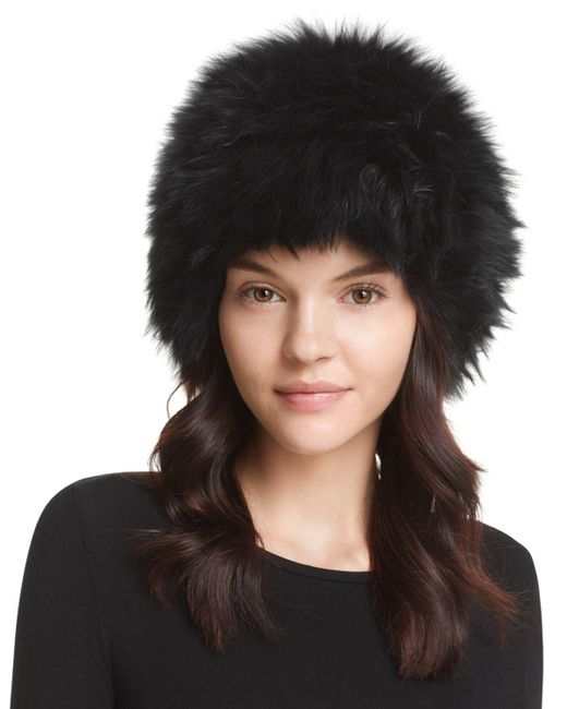 Surell | Black Fox Fur Cap | Lyst