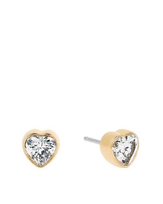 Michael Kors | Metallic Modern Brilliance Crystal Heart Stud Earrings/goldtone | Lyst