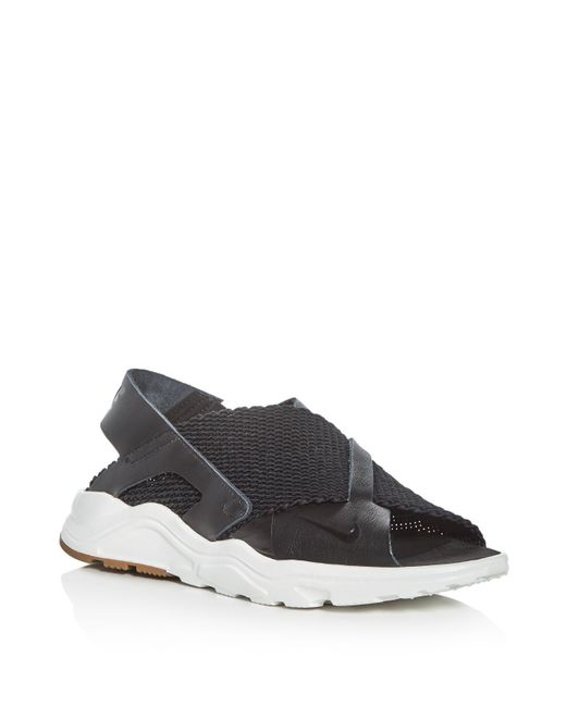 Nike Women S Air Huarache Ultra Sandals In Black Lyst