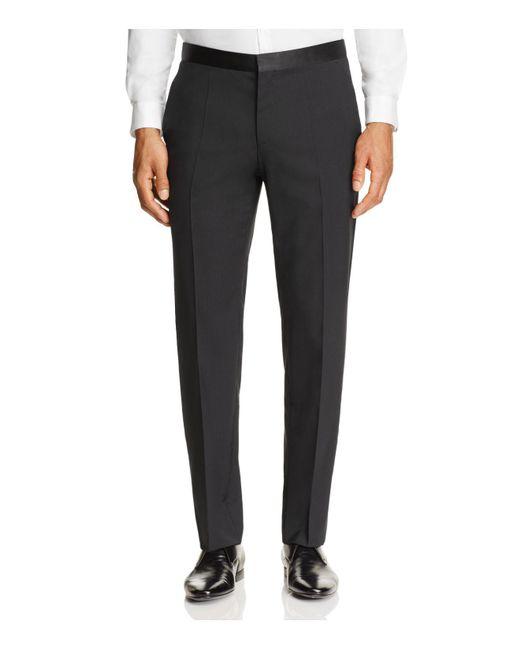 HUGO | Black C-stuards Regular Fit Tuxedo Pants for Men | Lyst