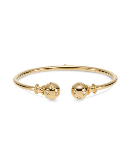 Temple St. Clair - Metallic 18k Yellow Gold Cosmos Bellina Bangle With Diamonds - Lyst