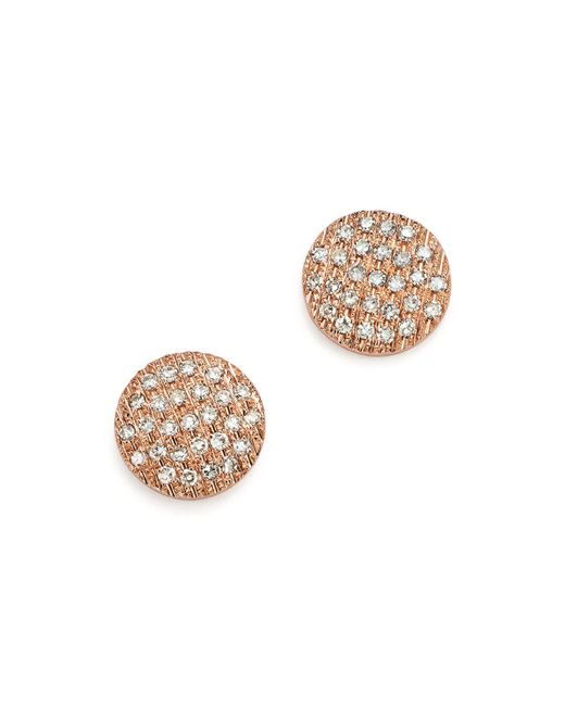 Dana Rebecca   Multicolor Diamond Lauren Joy Medium Earrings In 14k Rose Gold   Lyst