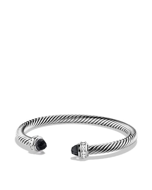 David Yurman | Metallic Cable Classics Bracelet With Black Onyx & Diamonds | Lyst
