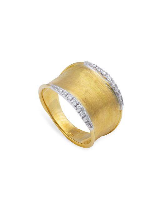 Marco Bicego - Metallic 18k Yellow Gold Lunaria Diamond Ring - Lyst