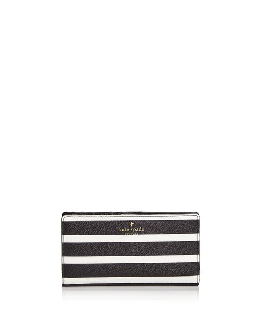 Kate Spade | Black Hyde Lane Stacy Stripe Wallet | Lyst