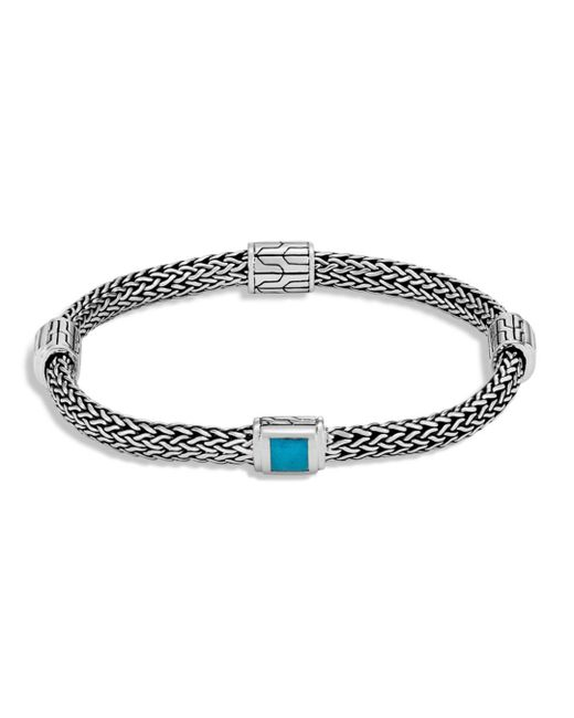 John Hardy - Blue Sterling Silver Classic Chain Extra Small Four Station Bracelet With Turquoise - Lyst
