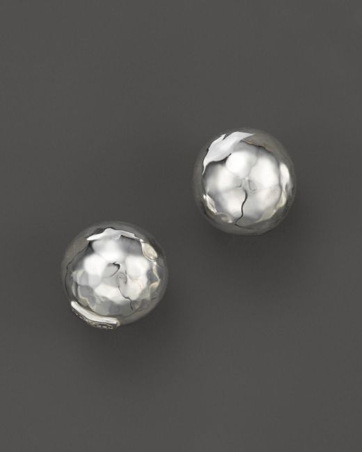 Ippolita - Metallic Glamazon® Sterling Silver Hammered Ball Stud Earrings - Lyst