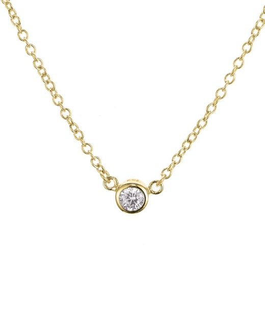 Aqua - Metallic Sterling Silver Pendant Necklace - Lyst