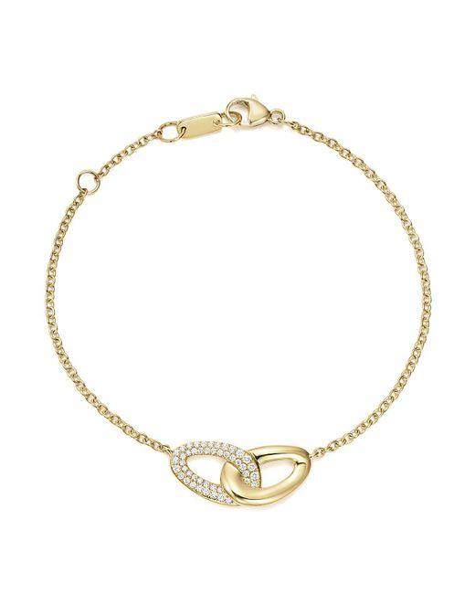 Ippolita | Metallic 18k Yellow Gold Cherish Interlaced Diamond Link Bracelet | Lyst