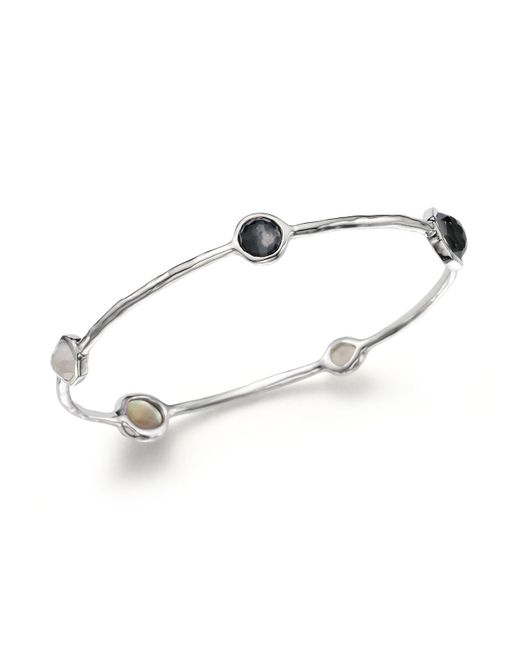 Ippolita - Metallic Sterling Silver Bangle In Black Tie - Lyst