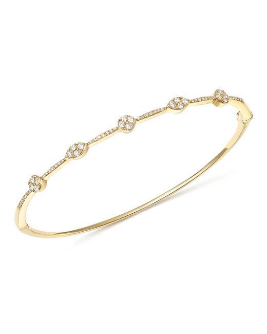 KC Designs - Metallic 14k Yellow Gold Diamond Stacking Bangle - Lyst