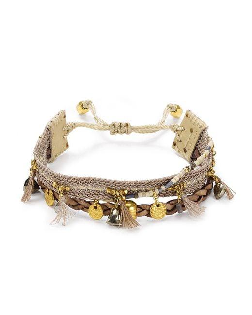 Chan Luu | Metallic Mixed Stone Bracelet | Lyst