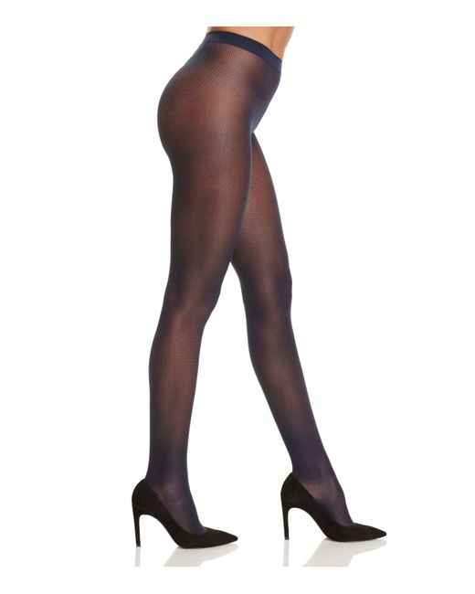 Wolford | Blue Striped Travel Leg Support Tights | Lyst