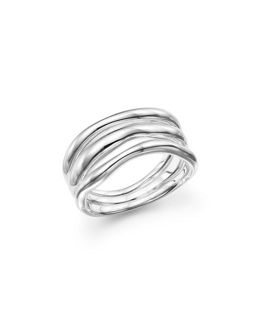 Ippolita - Metallic Glamazon® Sterling Silver Triple-band Squiggle Ring - Lyst