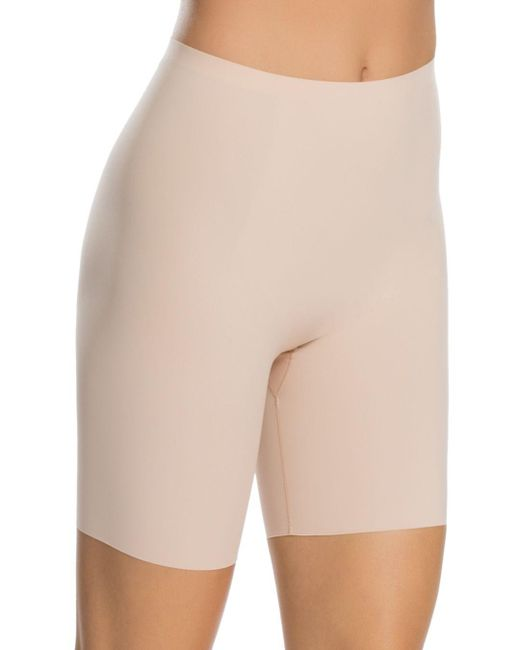Spanx - Natural Thinstincts Mid-thigh Shorts - Lyst