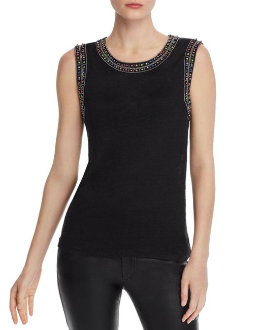 Generation Love - Black Lucy Embellished Top - Lyst