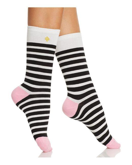 Kate Spade | Multicolor Saturday Stripe Crew Socks | Lyst