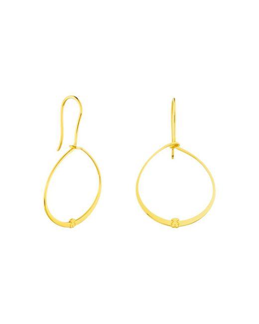 Tous - Metallic Hoop Drop Earrings - Lyst
