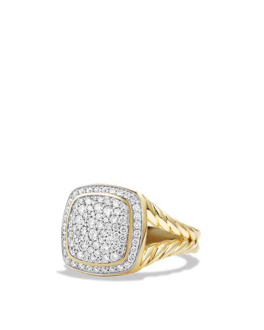 David Yurman | Metallic Albion Ring With Diamonds In 18k Gold | Lyst