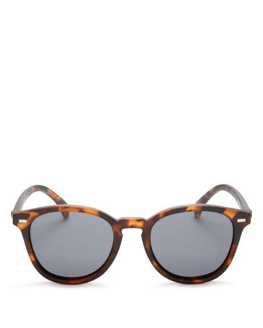 Le Specs - Gray Bandwagon Round Sunglasses, 50mm for Men - Lyst