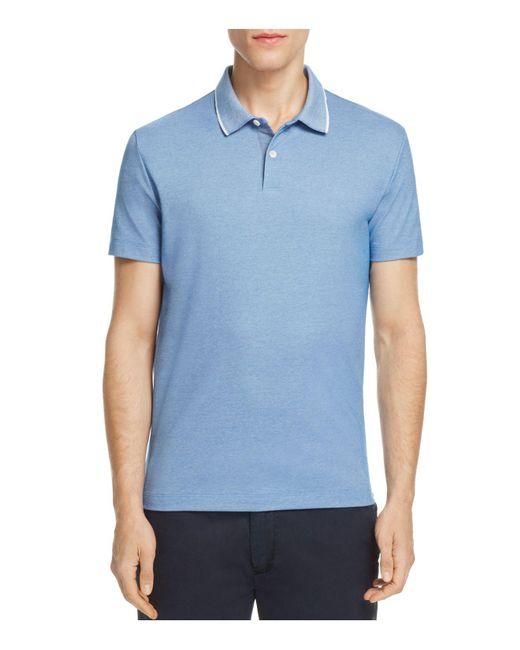 Theory | Blue Sandhurst Pique Slim Fit Polo Shirt for Men | Lyst