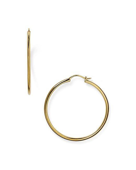 Nadri - Metallic Goldtone Pave Teardrop Hoops - Lyst